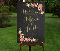 Large Custom Chalkboard Wedding Sign by RememberNovemberInc