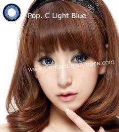 Pop.c Light Series - Blue color circle lens. | Shop @ ContactLensHouse.com