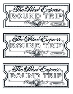 Polar express free printable ticket christmas pinterest my take on the polar express tickets we printed them on gold paper maxwellsz