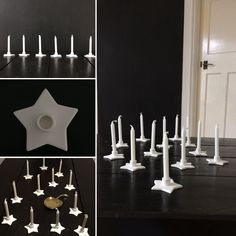 Nordic and co Scandinavian Danish design white star candleholder. Suitable year round, For small candles Star Candle, Small Candles, Danish Design, Candle Holders, Stars, Porta Velas, Sterne, Chandelier, Candlesticks