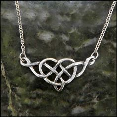 A classic heart pendant with a twist, literally! This Celtic heart knot pendant is perfect for everyday wear and a perfect gift for your Valentine!
