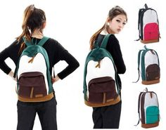 Fashion Brand New Womens Korean version Canvas Backpack Shoulder Bag