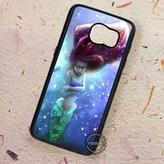 Sparkling Art Mermaid Ariel The Little Mermaid - Samsung Galaxy S7 S6 S5 Note 7 Cases & Covers