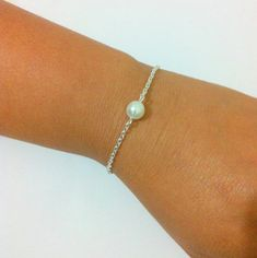 6 Single Pearl Bracelets    Bridesmaid Pearl by RBJohnson on Etsy, $74.50