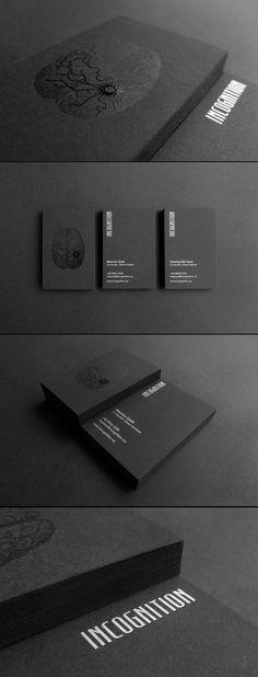 Unique Business Card, Incognition #businesscards #design. Business Card Designs.