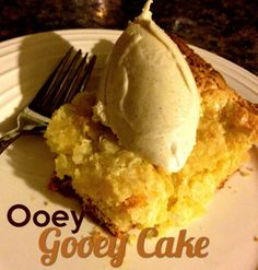Ooey Gooey Cake Recipe