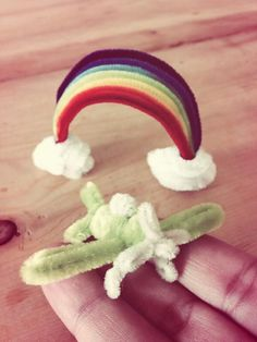 Pipe cleaner Rainbow and airplane.Pipe cleaner artist,Atsushi Kitanaka.