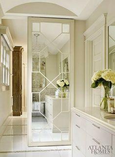 South Shore Decorating Blog: 50 Favorites For Friday (#127)  Fabulous sliding door in bathroom!!!