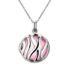 Beautifully made sterling silver necklace adorned with a diamond and pink pendent What A Girl Wants, Metal Jewelry, Sterling Silver Necklaces, Pendant Necklace, Hot, Pink, Affair, Diamonds, Xmas