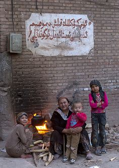 Family in the old Kashgar town, Xinjiang, China http://itunes.com/apps/lafforgueHD