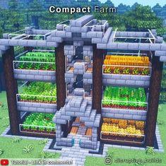 Minecraft Farmen, Minecraft Welten, Minecraft Mansion, Easy Minecraft Houses, Minecraft Survival, Minecraft Construction, Amazing Minecraft, Minecraft Tutorial, Minecraft Blueprints