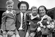 James Stewart with his family, 1950