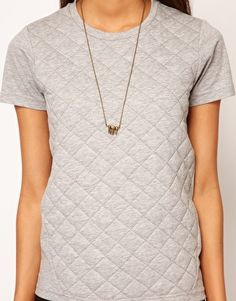 Enlarge ASOS T-Shirt with Quilted Section