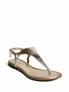 6d62af0aea7 New Womens GUESS Shelsy T-Strap Sandals Light Pink Gold Accents  Guess   TStrapSandals