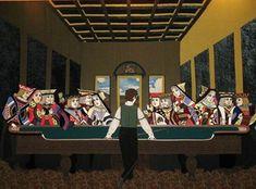 Leonardo da Vinci Last Supper painting. Read story of the Last Supper by da Vinci and sell oil painting reproduction of the Lord's painting, Bible about Leonardo the Last Supper meal. Last Supper Art, Da Vinci Last Supper, Dan Brown, Walt Disney, Mario, Simpsons, Vegas Theme, Casino Logo, Creepy Clown