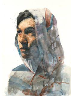 wtrclrs by Thomas Cian #art #portrait