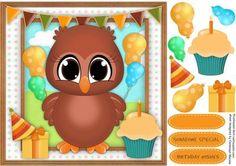 Owly s Birthday Wishes  on Craftsuprint - Add To Basket!