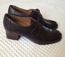 BLONDO Canada brown leather lace-up low heel oxfords shoes boots 10.5 N Narrow
