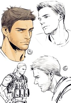 Chris Redfield sketches
