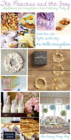 Let's get honest a one year old will not remember any of this so USE IT FOR YOUR WEDDING or a shower!  |  Styleboard: Eva's Princess and the Frog First Birthday | Magical Day Parties | A Fan Site Celebrating Disney Themed Events