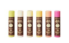 sun bum lip balm with spf 30... This stuff feels amazing!!!  Pink grapefruit is lovely. Also bought mango. 3.99 and worth every penny!!!  No petrochemicals, either!