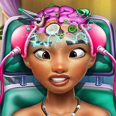 Moana Brain Doctor: A Princesa Moana precisa fazer uma cirurgia na cabeça. Desempenhe o papel de um medico e realize a cirurgia. Prepare-a para a cirurgia, medindo seu pulso e temperatura, depois veja o depois raspe o cabelo. Remover objetos esquisitos e siga os passos certos na cirurgia! Seja médico da Princesa Moana e deixe-a saudável novamente. Rapunzel, Princess Games, Online Games, Cinderella, Snow White, Remover, Fun, Anime, Sleeping Beauty