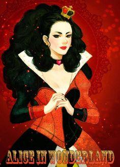 La reina de corazones si fuera guapa