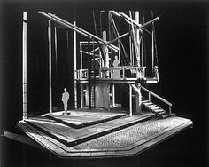 "Set design model for ""A Midsummer's Night's Dream"", 1989. Set design by Elis Lam. (courtesy Citadel Theatre)."