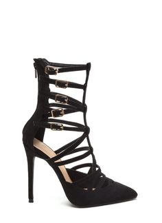 Your feet will want to be caged over and over again in these super hot heels.