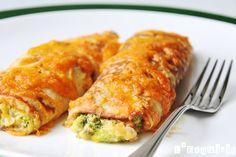 Crêpes de brócoli y cheddar - L'Exquisit