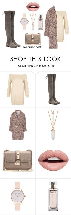 """Nudes, my loves!"" by amator19 ❤ liked on Polyvore featuring River Island, Stuart Weitzman, Alice + Olivia, Valentino, Nevermind, Olivia Burton and Calvin Klein"