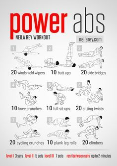 Power Abs Workout For a lot of various ab workouts.