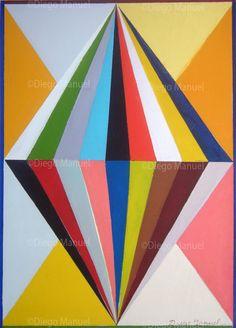Diamante, acrylic on canvas, 50 x 70 cm. 2013. By Diego Manuel