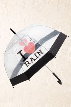 So Rainy - 50s I love Rain Transparent Dome Umbrella € 17,95