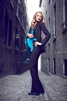 Womens pant suit (love turquoise and black)!