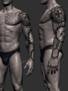 Torso Tattoos, Cool Forearm Tattoos, Body Art Tattoos, Sleeve Tattoos, Geometric Tattoo Sleeve Designs, Geometric Tattoos Men, Tattoo Designs Men, Cuff Tattoo, Arm Band Tattoo