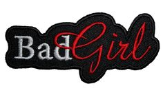 Bad Girl Lady Rider Embroidered Lady Biker Patch – Quality Biker Patches