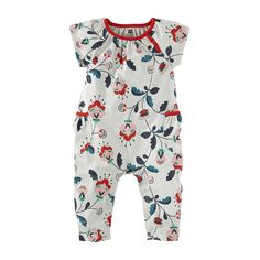 She's ready to romp in the garden with these floral girls rompers from Tea Collection. Shop cute little girls clothes for your baby to stay comfy this fall.