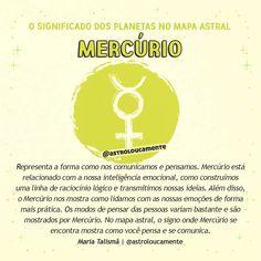 Vocês vivem me pedindo, então eu resolvi criar o significado dos planetas no mapa astral. Mercúrio é o planeta que rege os signos de Gêmeos… Cancer Sign, Witchcraft, Gemini, Mystic, Zodiac, Signs, Wicca, Instagram, Astrology Chart