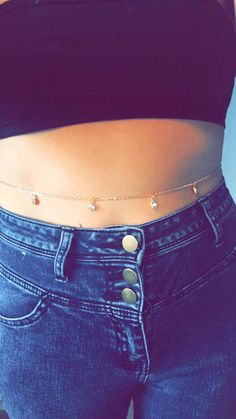 Items similar to Rose gold diamante belly chain on Etsy Waist Jewelry, Body Chain Jewelry, Cute Jewelry, Jewelry Accessories, Saree With Belt, Teen Girl Photography, Kurti Designs Party Wear, Indian Wedding Jewelry, Body Adornment
