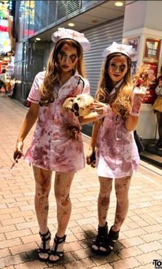 Zombie Nurse Costume More