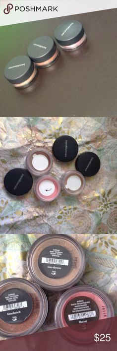 Bundle of Bare Mineral Eyeshadows Selling all together. 💥💥💥💥💥💥💥💥💥💥 3 new, sealed Eyeshadows. See 3rd pic for colors and size. (Quarter sized) Bare Minerals Makeup