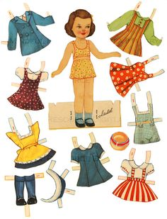 Printable Vintage Paper Doll 1940's Retro Girl by mindfulresource * 1500 free paper dolls Arielle Gabriel's The International Paper Doll Society #QuanYin5 Twitter QuanYin5 Linked In #ArtrA *