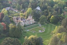 Friar Park, the home of Beatle George Harrison Aerial view from our balloon.