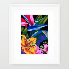 Buy Let's Go Abstract Framed Art Print by Vikki Salmela. Worldwide shipping available at Society6.com. Just one of millions of high quality products available. #tropical #lily #Bird of #Paradise #jungle #Hawaiian #bright original #art for your #home #apartment #office #bedroom or special occasion #gift.