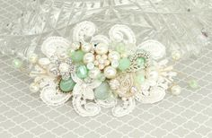 Mint Hair Accessories- Mint Green Bridal Comb- Wedding Hair Accessories- Mint Bridal Hair Comb- Mint Vintage Inspired Comb- Brass Boheme by BrassBoheme on Etsy https://www.etsy.com/uk/listing/263472547/mint-hair-accessories-mint-green-bridal