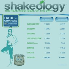 Great Deals with Shakeology #Shakeology #Price #Cost #Discount #Coach #DiscountCoach