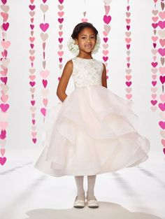 84248655bea Joan Calabrese by Mon Cheri 217382 Layered Organza Flower Girl Dress