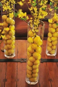 35 On-trend Wedding Table Centerpieces Perfect For A Minimalist Reception – Wedding Centerpieces Lemon Centerpieces, Summer Wedding Centerpieces, Table Wedding, Reception Table, Lemon Centerpiece Wedding, Kitchen Table Centerpieces, Party Centerpieces, Fruit Decorations, Decoration Table