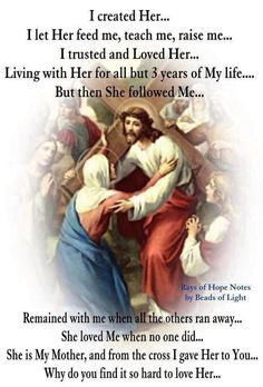 """I love your mother Jesus but Lord you yourself commanded us with these words. """"I am the way and the truth and the life. No comes to the Father EXCEPT THROUGH ME.John obey you only Lord Jesus🌹🌷 Catholic Religion, Catholic Quotes, Catholic Prayers, Catholic Saints, Religious Quotes, Roman Catholic, Christianity Quotes, Catholic Catechism, Spirituality"""